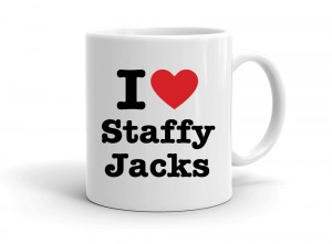 """I love Staffy Jacks"" mug"