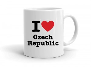 """I love Czech Republic"" mug"