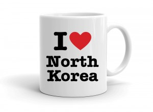 """I love North Korea"" mug"