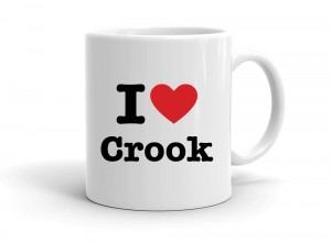 """I love Crook"" mug"