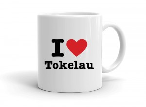 """I love Tokelau"" mug"