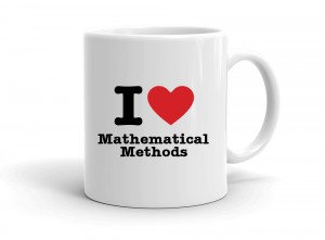 """I love Mathematical Methods"" mug"