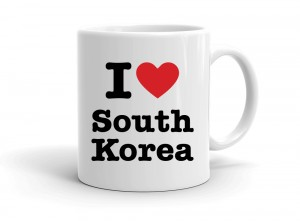 """I love South Korea"" mug"