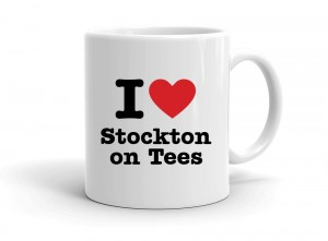 """I love Stockton on Tees"" mug"