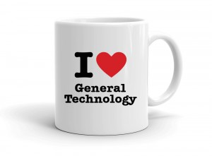 """I love General Technology"" mug"